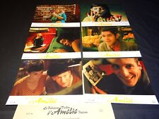 AMELIE POULAIN Jean-Pierre Jeunet Audrey Tautou  jeu photos cinema lobby cards