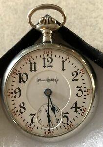 Illinois Bunn 18sz. 19j. Pocket watch in Silveroid Case! Runs