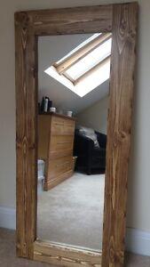 *Beautiful quality handmade chunky rustic full length wooden mirror*