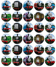 30 Thomas The Tank Engine Cupcake Toppers Edible Wafer Paper Fairy Cake Toppers