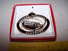 Gold Tone Brass Christmas Ornament - Renfro Valley Kentucky