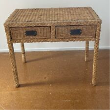 Cane wicker entrance table hall table side table beach style