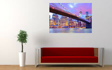 BROOKLYN BRIDGE CITY LIGHTS NEW GIANT LARGE ART PRINT POSTER PICTURE WALL