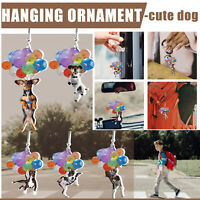 Car Cute Dog Hanging Ornament With Colorful Balloon Hanging Ornament Gift New