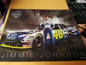 Jimmie Johnson Lowes # 48    Photo Postcard  Folder   2010 season