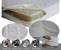 """72x84 CAL KING Fits to 14"""" ht ~ MATTRESS PROTECTOR ~ Soft LUXURIOUS ZIP FABRIC"""
