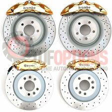 GOLD Ford FG or FGX Brembo 6 Piston FRONT & 4 Piston REAR Caliper & Disc Set