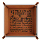 Bella Busta- 9 years Anniversary gift -Engraved Leather Tray (Rawhide)