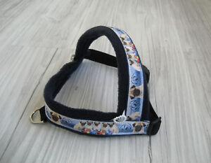 Hundegeschirr Umfang 45 -57 cm Hundehalsband Halsband Hundebekleidung Handarbeit