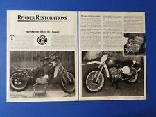 1973 CZ 250 Motorcycle - Original 4 Page Restoration Article