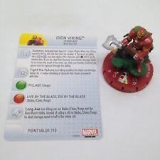 Heroclix Invincible Iron Man set Iron Viking #052 Chase figure w/card!