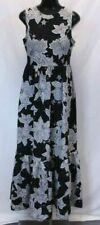 Cece by Cynthia Steffe Women's Adeline Printed Maxi Dress AB3 Black Size 4