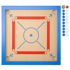 "New Ikea Quality Carrom Board Game Large Striker Coins Set, 25 ½ "" x 25 ½ "" Size"