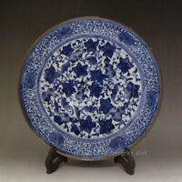 Fine Chinese Antique Blue and White Porcelain Plate with Mark