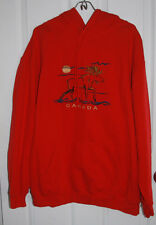 Canada Pullover Hoodie XL Embroidered Moose Red Cotton/Polyester Blend