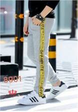 Off White - Jogger Pants Fit Up To CL - Light Gray/Yellow