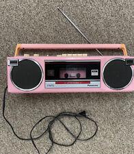 Vintage Pink Panasonic Model RX-FM15 Radio/Cassette Recorder Boombox Works