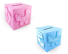 Baby Shower Decoration Wishing Card Box Baby Boy Baby Girl Keepsake Carriage