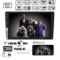 "9""1 Din Touch Screen Car Radio Bluetooth  MP5 Player  USB Mirror Link  FM Stereo"