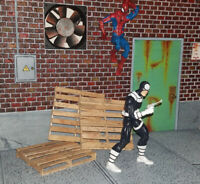 1:12 Scale Pallets for Action Figure Displays (Marvel Legends, Mezco, DCUC)