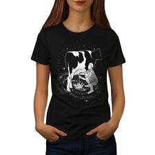 Space Cow Milk Fantasy Women T-shirt S-2XL NEW   Wellcoda