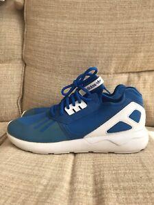 Adidas Tubular Blue Lace Up Trainers Size 11 UK