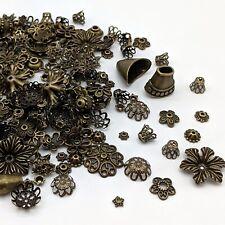 50g Perlenkappen 6-25mm Mix antikbronze Perlkappen Bronze Kappen - 1031