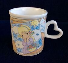 Precious Moments 1998 by Enesco Guardian Angel Heart Handle Mug Cup