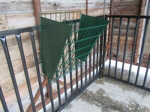 Little Giant Heavy-Duty Galvanized Metal 2-in-1 Goat and Sheep Feeder 2 Pack