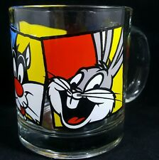 Warner Bros Looney Tunes Tweetie Sylvester Bugs Bunny Mug Cup Glass Vintage 1994
