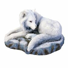 Guardian of the North 11.5cm High White Wolf Snow Arctic Nemesis Now Lisa Parker