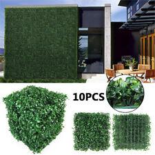 10pcs / 20pcs Artificial Faux Ivy Leaf Privacy Grass Fence Panel Boxwood Mat