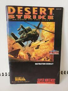 Super Nintendo SNES Desert Strike Manual Only