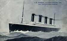 White Star SS Titanic by Gaines, Leeds. Foundered April 14th 1912.