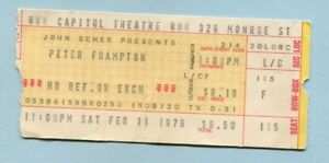 1976 Peter Frampton Comes Alive concert ticket stub Passaic NJ Show Me The Way