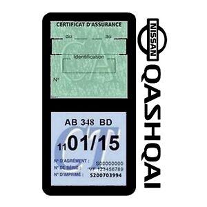 Porte vignette assurance QASHQAI NISSAN double pochette Stickers auto rétro