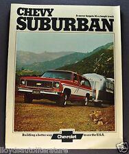 1974 Chevrolet Suburban Truck Brochure Cheyenne C10 C20 K10 K20 4x4 Original 74
