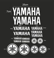 FE kit 17 yamaha  moto Aufkleber Abziehbil LOGO set aufkleber adesivi WHITE /894