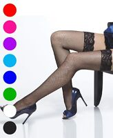 Coquette 1732X Plus Size Lace Top Fishnet Thigh High Stockings