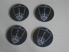 4 X WHEEL ROSTYLE CENTRE CAP BADGES ROVER P5B 3.5 SALOON & COUPE