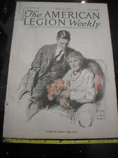 """American Legion Weekly Magazine """"Mother's Days"""" on Cover May 12, 1922"""