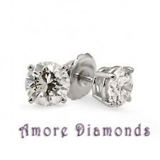 0 41 Ct G Vs Round Diamond Solitaire 4 Stud Earrings 14k White Gold