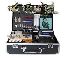 Pro 4 Tattoo Machine KIT equipement complete set tattoos power supply New