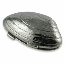Beautiful sterling silver Clamshell pill box NEW rrp£95
