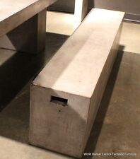 """71"""" Long Bench Cement Solid fiber concrete Sealed Indoor Outdoor Contemporary"""