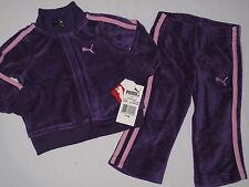 NWT PUMA 2pc long sleeve jacket GIRL  size 12M purple