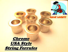 Chrome String through Ferrules for Tele / Telecaster Large size Vintage