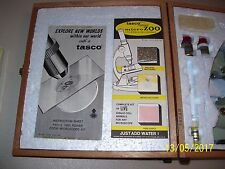 VINTAGE TASCO ZOOM DELUXE HIGH QUALITY MICROSCOPE KIT, 951-5, 120 POWER, BOXED