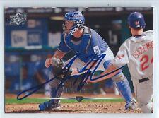 John Buck signed 2008 Upper Deck, Kansas City Royals baseball autograph #256