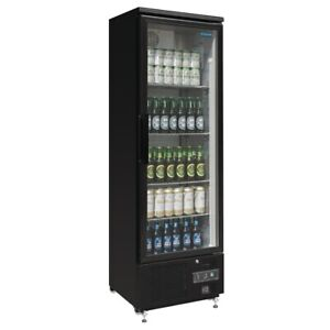 COMMERCIAL POLAR UPRIGHT BACK BAR COOLER CHILLER FRIDGE SINGLE GLASS DOOR